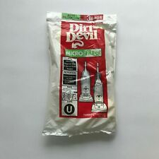 Dirt Devil Micro Fresh 3 Pack Vacuum Bags Type U NEW