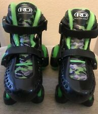 Roller Derby Boys' Adjustable Skates Black/Green Camouflage Youth 11-12