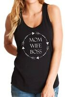 Tank Top Mom Wife Boss #2 Shirt Mother's Day Gift Mama Funny Tee Women Idea