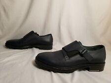Lanvin Men's Monk Strap Calfskin Leather Dress Shoes MW7 Petrol Blue Size US:13