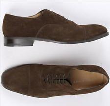 PELUSO NAPOLI ITALIAN Brown Suede Cap Toe Oxford Shoes 11 1/2  US Italy