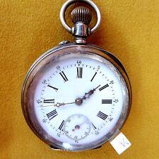 Silberne (0,800) MINERVA (Uhren-Fabrik Villeret) - HERREN-TASCHENUHR, ca. 1905