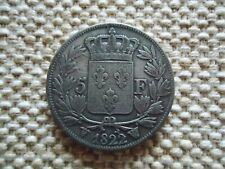 FRANCE 1822 W 5 FRANCS SILVER COIN. LOUIS XVIII(1816-1824 BARE HEAD) 25g., 37mm.