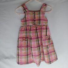 Baby gap overall seersucker plaid side zip jumper overalls dress lined
