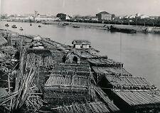 HAÏPHONG c. 1935 - Dépot de Bambous sur le Canal Bonnal Tonkin - DIV 7014