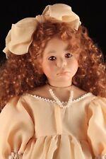 "Porcelain & Cloth Doll 25"" INGA by Carla Rauser Elite Dolls LTD 249/850 Redhead"