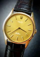 Rolex ♛ Cellini 32mm Yellow Gold 18K 750 Ref.3806 Vintage Luxury Mens Watch 1982