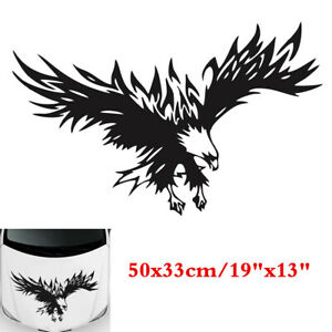 50x33cm Black Flying Graphics Decals Sticker Universal For Car Truck Hoods