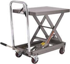 Hhydraulic Scissor Lift Table Cart Dolly Scissor Jack Hoist Stand 500Lb Cap