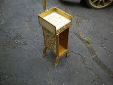 Antique Italian Florentine Magazine Rack Mail Holder Stand Gold Gilt Wood