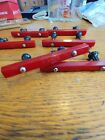 Bakelite. Cherry Red. 6. Art Deco Drawer Pulls Cabinet Handles