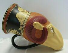 Ancient Greek Reproduction Capua Rams Head Mug ~ British Museum Replica Vessel
