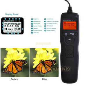Timer Intervalometer Remote Shutter For Nikon D3300 D7200 D5400 D90 D5600 Camera