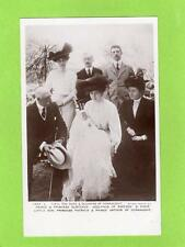 Duke Duchess of Connaught with family unused RP pc Rotary