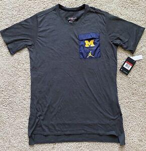 Nike Michigan Wolverines Football Training Shirt (L) AQ8859-091