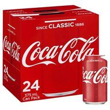 24-Multi Pack Coca-Cola Classic Coke Canned Soft Drink Refreshment 375mL