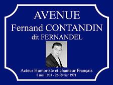 "Plaque de rue /""Avenue Jean FERRAT/"""