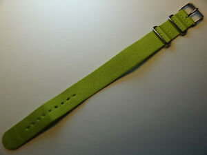 New Timex T7B916 Weekender LONG EZ Pass Thru 20mm Nylon Watch Band Lime Green