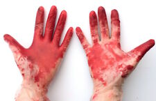 Bloody Gloves Murderer Halloween Fancy Dress Horror Killer Dexter Vinyl Prop