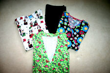 Scrub Lot of 4 Pieces, 1 (black) Pant 3 Top and 2 Jackets all Medium