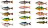 Savage 4D Line Thru Soft Lure Sinking Trout Roach Perch Pike Predator Fishing