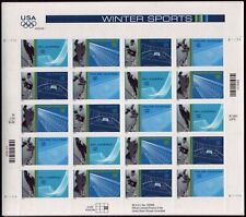 2002 Salt Lake WINTER SPORTS: MNH Sheet 20 x 34¢ STAMPS, Olympics Games #3552-55