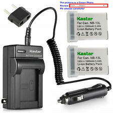 Kastar Battery Travel Charger for Canon NB-13LH CB-2LH Canon PowerShot SX720 HS
