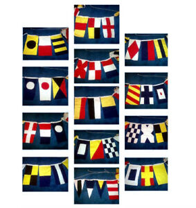 Signal Flags 40 Maritime-Nautical Double Sided Cotton 31.5 Ft Long