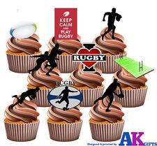30X 4 cm Rugby Irlanda 6 Naciones comestible fondant//Oblea De Hadas Taza Cake Toppers