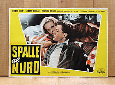 SPALLE AL MURO fotobusta poster Le Dos Au Mur Edouard Molinaro Noiret Moreau W9
