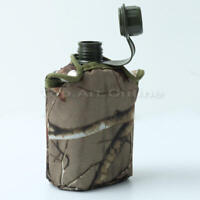 850ml Army Style Patrol Water Bottle Canteen Sport Camping Hiking + Ca CKH