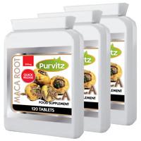 MACA Root Extract Pills High Grade SUPERFOOD 360 Tablets Balances Hormones UK