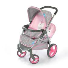 More details for hauck malibu duo unicorn twin baby doll stroller travel buggy pram