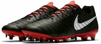 NIKE TIEMPO LEGEND 7 ACADEMY FG FOOTBALL BOOTS - UK 7.5 & 8.5 - BLACK LEATHER