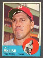 1963 Topps Baseball #512 Cal McLish Philadelphia Phillies - 6th Series