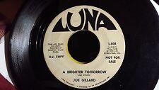 BLACK GOSPEL promo 45: JOE GILLARD Someone to Care/A Brighter Tomorrow LUNA 808