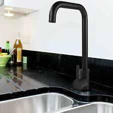 Modern Black Kitchen Sink Mixer Taps Swivel Spout Single Lever Tap Mono Faucet