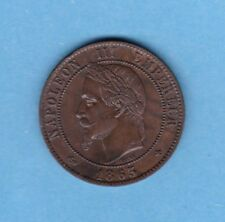 (BR.205) 10 CENTIMES NAPOLÉON III LAUREE 1863 BB STRASBOURG  (SUP) ETAT RARE