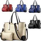 2 Pcs Set Women Handbag Tote Purse PU Leather Ladies Shoulder Messenger Hobo Bag