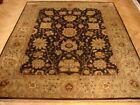 8x10 Dark Brown Jaipur Wool New Fine Quality Splendid Handmade rug