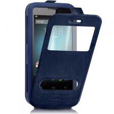 Etui Coque Silicone S-View bleu Universel XL pour Logicom Le Starter L