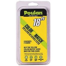 """Poulan 18"""" Yellow Aw Chain 2 Pack Replacement Chain 952-165014"""