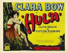 HULA Movie POSTER 30x40 Clara Bow Clive Brook Patricia Dupont Arnold Kent
