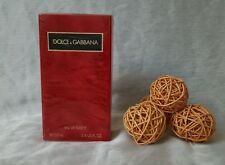 DOLCE&GABBANA woman red EDT 100ml splash, made in Italy, Épuisé rare