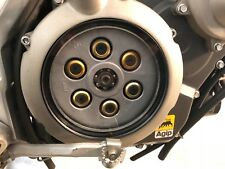 Aprilia Dorsoduro 750 Clear Clutch Cover Kit 08-12 Gold & Black Stainless Screws
