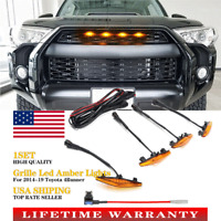 4Pcs Led Amber Lights for Toyota 4Runner TRD Pro 2014-2019 Front Grille Hood