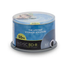 50 Blank Blu-Ray M-DISC 25GB Millenniata media pack BD-R permanent LG
