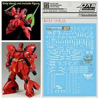For Bandai RG 1/144 MSN 04 Sazabi Gundam D.L WaterSlide Decal Stickers RG25 Kit