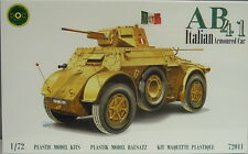 Italienischer Radpanzer AB 41 ,1:72, DOC Models, Plastikbausatz, NEU