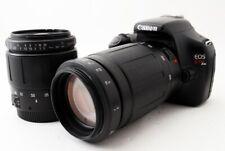 Canon EOS 1100D/Kiss X50/Rebel T3 12.2MP 28-80/100-300mm [Exc+++] w/8GB SD [82]